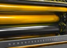 Odsadzki drukowej maszyny druku rolowniki Obraz Royalty Free