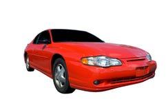 odseparowana czerwony samochód Zdjęcie Stock