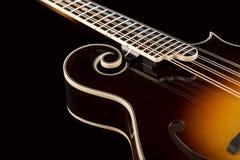 odseparowana mandolina czerni Zdjęcia Stock