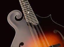 odseparowana mandolina czerni Zdjęcie Stock