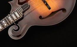 odseparowana mandolina czerni Fotografia Royalty Free