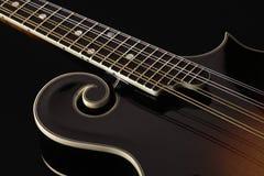 odseparowana mandolina czerni Zdjęcie Royalty Free