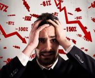 Odsetek przychody spada ostro Zdjęcia Stock