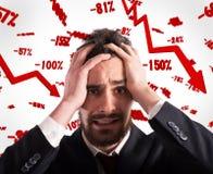 Odsetek przychody spada ostro Obrazy Stock