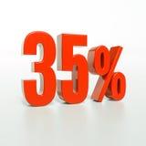 Odsetka znak, 35 procentów Fotografia Royalty Free