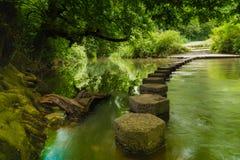 Odskocznia do czegoś Boxhill, Surrey, Anglia g zdjęcie stock