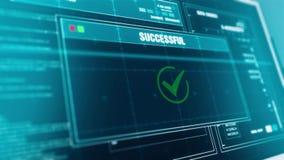 Odszyfrowanie dane postępu Ostrzegawczej wiadomości dane Odszyfrowywający ostrzeżenie na ekranie ilustracja wektor