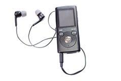 Odtwarzacz mp3 z słuchawkami, ja odizolowywa na białym tle Obraz Stock