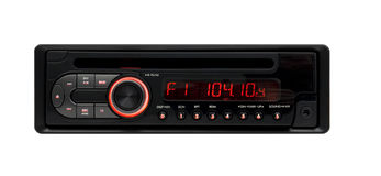 odtwarzacz mp3 audio czarny samochodowy wma obrazy royalty free