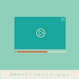 Odtwarzacz wideo dla sieci i wiszącej ozdoby apps Obrazy Stock