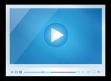 Odtwarzacz wideo dla sieci, minimalistic projekt Obrazy Stock