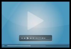 Odtwarzacz wideo dla sieci, minimalistic projekt Fotografia Royalty Free