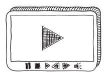 Odtwarzacz wideo doodle Zdjęcie Royalty Free
