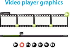 Odtwarzacz wideo grafika Obrazy Royalty Free