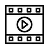 Odtwarzacz Wideo ikona ilustracji