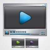 Odtwarzacz wideo interfejs. Obraz Stock