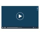 Odtwarzacz Wideo mockup Fotografia Stock