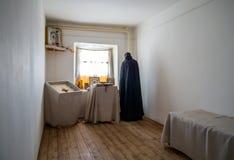 Odtwarzający klasztorni komórek meblowania, Zadonsk tradycji ludowej Lokalny muzeum, Zadonsk zdjęcie royalty free