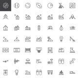 Odtwarzanie kreskowe ikony ustawiać ilustracji