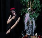 Odtwarzanie Meksykański dzień nieboszczyk zdjęcie stock
