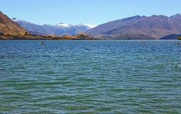 Odtwarzanie na Wanaka jeziorze Obraz Stock