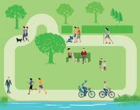 Odtwarzanie w parku ilustracja wektor
