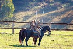 odtworzenie Lekkiego konia brygada Przy mężczyzną Od Śnieżnego Rzecznego Bush festiwalu 2019 fotografia stock