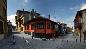 De architectuur van de ottomane/kleurrijke odunpazarihuizen Royalty-vrije Stock Fotografie