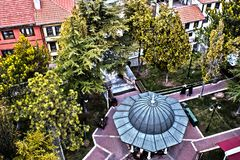 """View from the glass minaret. """"Odunpazari Historical Urban Site"""" is a significant example to cities established totally by the Turks within Anatolia stock image"""