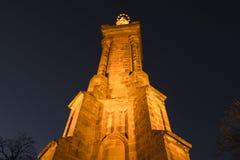 Odważniak marien szpaltowego miasto widoku punkt przy nocą Zdjęcie Stock