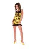 odważny druku żółty fotografia royalty free