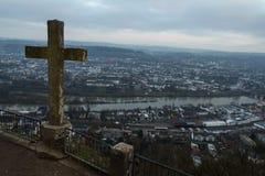 Odważniak marien szpaltowego miasto widoku punkt Obrazy Stock