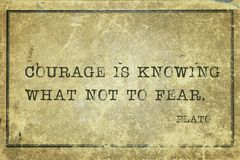 Odwaga jest Plato zdjęcia royalty free