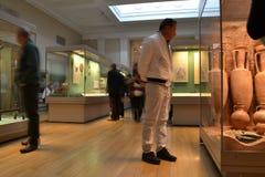 Odwiedzać muzealną wystawę Obraz Royalty Free