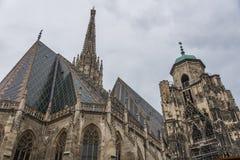 Odwiedzać St Stephen katedrę przy Wiedeń, Austria's kapitał Zdjęcie Royalty Free