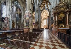 Odwiedzać St Stephen katedrę przy Wiedeń, Austria's kapitał Obrazy Royalty Free