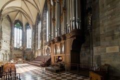 Odwiedzać St Stephen katedrę przy Wiedeń, Austria's kapitał Zdjęcia Stock