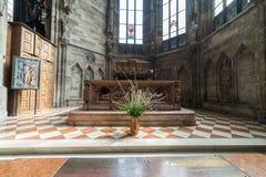 Odwiedzać St Stephen katedrę przy Wiedeń, Austria's kapitał Obrazy Stock