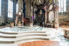 Odwiedzać St Stephen katedrę przy Wiedeń, Austria's kapitał Fotografia Royalty Free