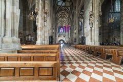 Odwiedzać St Stephen katedrę przy Wiedeń, Austria's kapitał Fotografia Stock