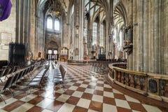 Odwiedzać St Stephen ` s katedrę przy Wiedeń, Austria's kapitał Fotografia Stock