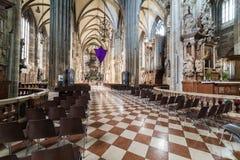 Odwiedzać St Stephen ` s katedrę przy Wiedeń, Austria's kapitał Obrazy Royalty Free