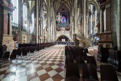Odwiedzać St Stephen ` s katedrę przy Wiedeń, Austria's kapitał Obraz Stock