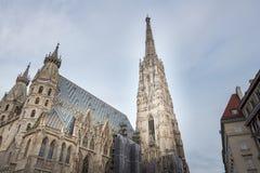 Odwiedzać St Stephen ` s katedrę przy Wiedeń, Austria's kapitał Zdjęcie Royalty Free