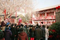 Odwiedza świątynnego jarmark w Grodzkim God& x27; s świątynia, Zhengzhou Zdjęcie Royalty Free