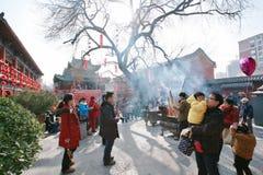 Odwiedza świątynnego jarmark w Grodzkim God& x27; s świątynia, Zhengzhou Zdjęcie Stock