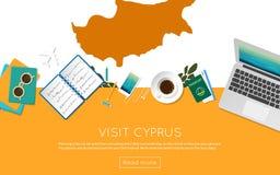 Odwiedza Cypr pojęcie dla twój sieć sztandaru lub drukuje ilustracja wektor