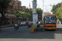 Odwiedza różowego miasto Jaipur, India turystyka - Obrazy Stock