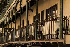 Odwiedza ?redniowieczny miasto Chinchon, Madryt, Hiszpania zdjęcie stock