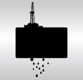 Odwiert naftowy b&w tło ilustracja wektor